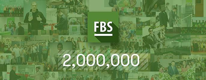 FBS has pushed beyond the mark of 2 million clients
